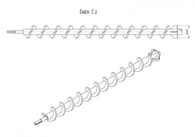 Šnek pro bioplynové stanice typ č.2